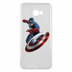 Чехол для Samsung J4 Plus 2018 Капитан Америка