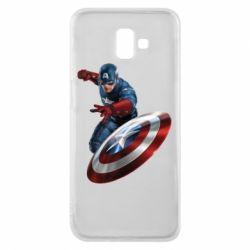 Чехол для Samsung J6 Plus 2018 Капитан Америка