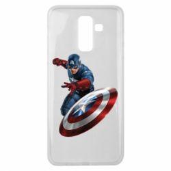 Чехол для Samsung J8 2018 Капитан Америка