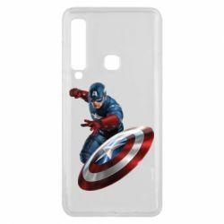 Чехол для Samsung A9 2018 Капитан Америка