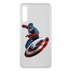 Чехол для Samsung A7 2018 Капитан Америка