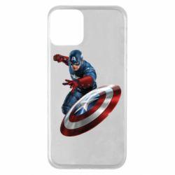 Чехол для iPhone 11 Капитан Америка