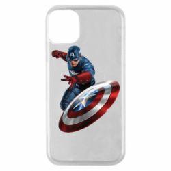 Чехол для iPhone 11 Pro Капитан Америка