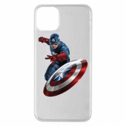 Чехол для iPhone 11 Pro Max Капитан Америка