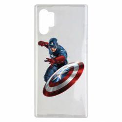 Чехол для Samsung Note 10 Plus Капитан Америка