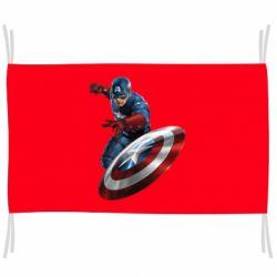 Флаг Капитан Америка