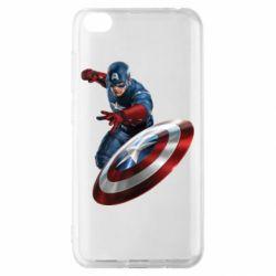Чохол для Xiaomi Redmi Go Капітан Америка