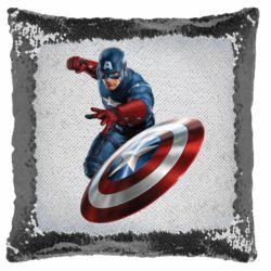 Подушка-хамелеон Капитан Америка