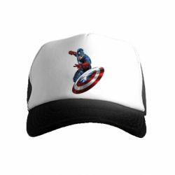Детская кепка-тракер Капитан Америка