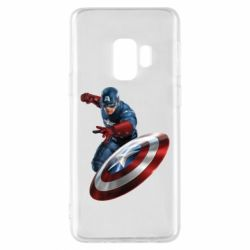Чехол для Samsung S9 Капитан Америка