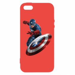 Чехол для iPhone5/5S/SE Капитан Америка