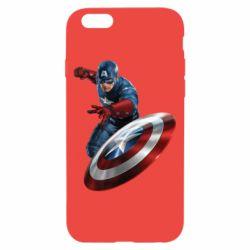 Чехол для iPhone 6/6S Капитан Америка