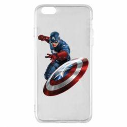 Чехол для iPhone 6 Plus/6S Plus Капитан Америка