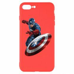 Чехол для iPhone 7 Plus Капитан Америка