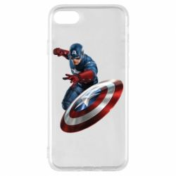 Чехол для iPhone 8 Капитан Америка