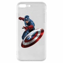 Чехол для iPhone 8 Plus Капитан Америка