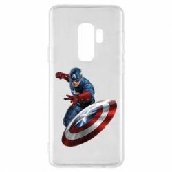Чехол для Samsung S9+ Капитан Америка