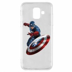 Чехол для Samsung A6 2018 Капитан Америка