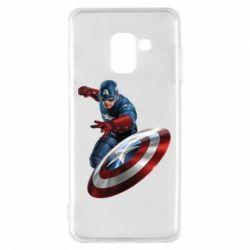 Чехол для Samsung A8 2018 Капитан Америка