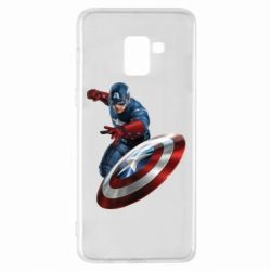Чехол для Samsung A8+ 2018 Капитан Америка