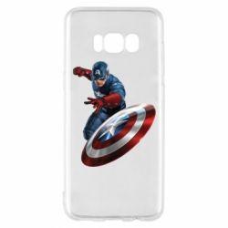 Чехол для Samsung S8 Капитан Америка