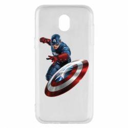 Чехол для Samsung J5 2017 Капитан Америка