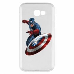 Чехол для Samsung A7 2017 Капитан Америка