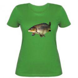 Женская футболка Карасик