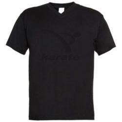 Мужская футболка  с V-образным вырезом Karate - FatLine