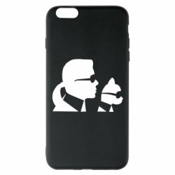 Чехол для iPhone 6 Plus/6S Plus Karl and the cat with glasses
