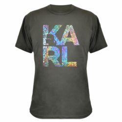 Камуфляжна футболка Karl fashion designer
