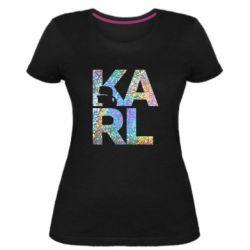 Жіноча стрейчева футболка Karl fashion designer
