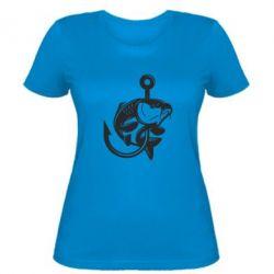 Жіноча футболка Карп на гачку