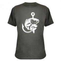 Камуфляжна футболка Карп на гачку