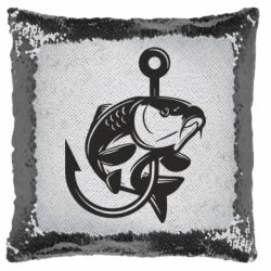 Подушка-хамелеон Карп на гачку