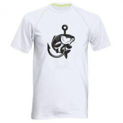 Чоловіча спортивна футболка Карп на гачку