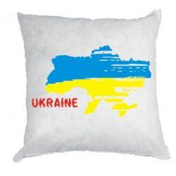 Подушка Карта України з написом Ukraine - FatLine