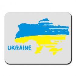 Коврик для мыши Карта України з написом Ukraine - FatLine