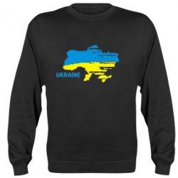 Реглан (свитшот) Карта України з написом Ukraine - FatLine