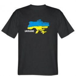 Мужская футболка Карта України з написом Ukraine - FatLine