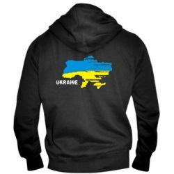 Мужская толстовка на молнии Карта України з написом Ukraine - FatLine