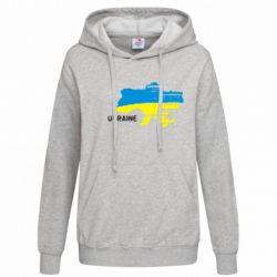 Женская толстовка Карта України з написом Ukraine - FatLine