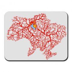Коврик для мыши Карта України з серцем - FatLine
