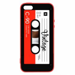 Чехол для iPhone5/5S/SE Vintage audio cassette - FatLine