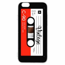 Чехол для iPhone 6/6S Vintage audio cassette - FatLine