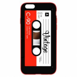 Чехол для iPhone 6 Plus/6S Plus Vintage audio cassette - FatLine