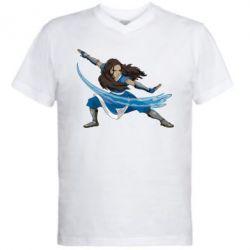 Мужская футболка  с V-образным вырезом Катара