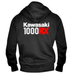 Мужская толстовка на молнии Kawasaki 1000RX - FatLine
