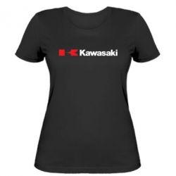 Женская футболка Kawasaki Logo - FatLine
