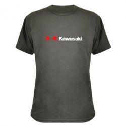 Камуфляжная футболка Kawasaki Logo - FatLine